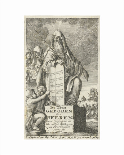 Moses with the Tablets of Law by Jan Bouman