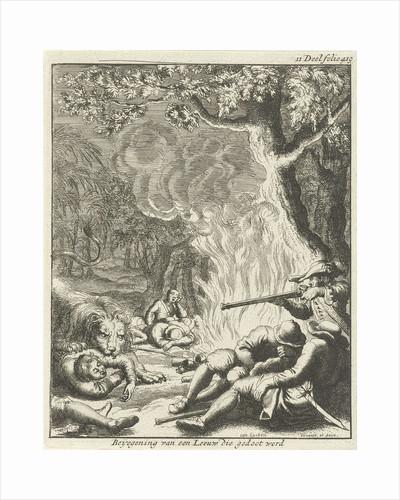 Leo man falls and is shot by Jan Luyken