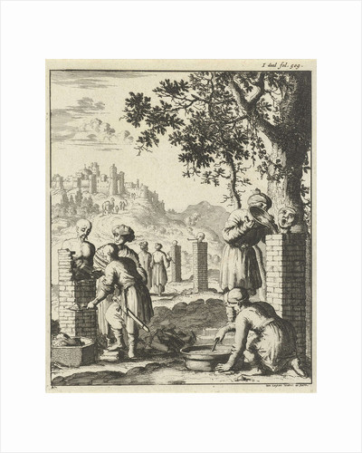 Thieves and swindlers punishment bricked by Jan Luyken