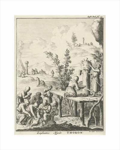 Laplanders worship God Thoron by Jan Luyken
