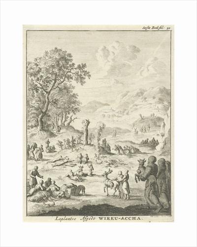 Laplanders worship the god Wirku Accha by Jan Luyken