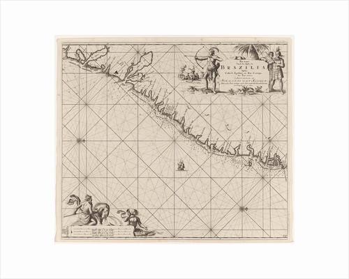 Sea chart of part of the east coast of Brazil by Johannes van Keulen I