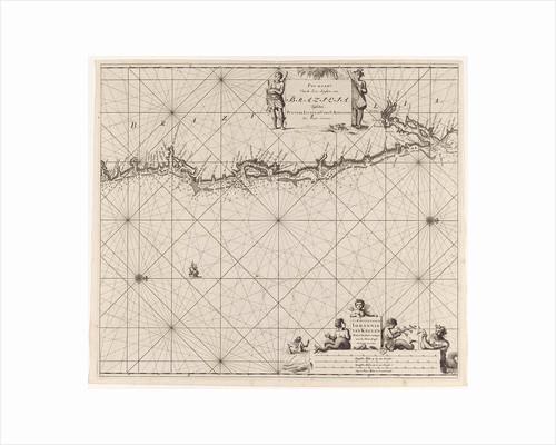 Sea chart of the east coast of Brazil by Johannes van Keulen I