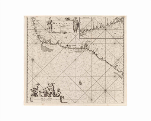 Sea chart of a portion of the northeast coast of Brazil by Anonymous