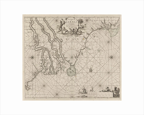 Sea chart of the coast of Gambia and part of the coast of Senegal, Guinea and Sierra Leone by Anonymous