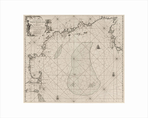 Sea chart of part of the east coast of the United States USA and Canada by Johannes van Keulen I