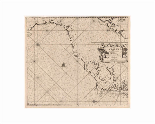Sea chart of part of the east coast of the United States USA by Johannes van Keulen I