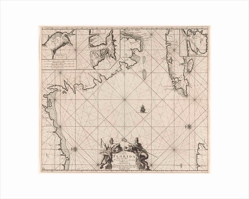 Sea chart of part of the Gulf of Mexico, with the coast of Florida by Johannes van Keulen I