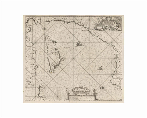Sea chart of the eastern part of the Mediterranean, Cyprus by Anonymous