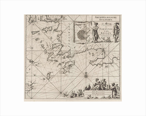 Sea chart of the southeastern part of the Aegean Sea by unknown