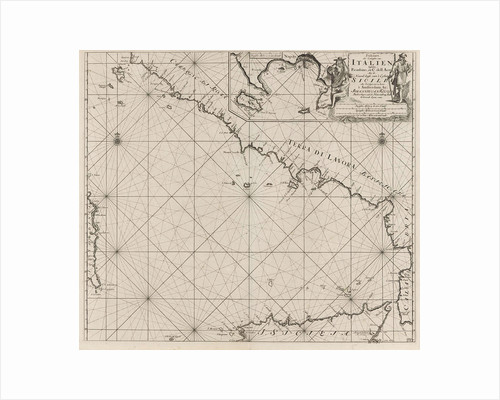 Sea chart of part of the southwest coast of Italy and the north coast of Sicily by Anonymous