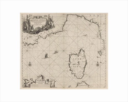 Map of part of the Mediterranean coast of France and the north coast of Italy by unknown