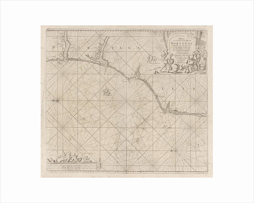 Sea chart of a portion of the south coast of Portugal by Johannes van Keulen I