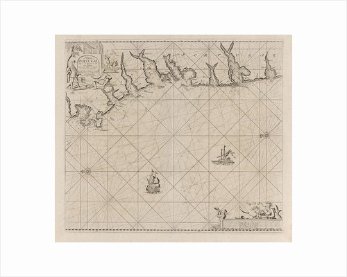Sea chart of part of the south coast of Portugal by Johannes van Keulen I