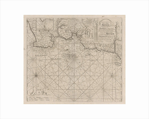 Sea chart of part of the south coast of Brittany by Anonymous