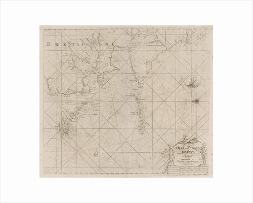 Map of the west coast of Brittany by Johannes van Keulen I