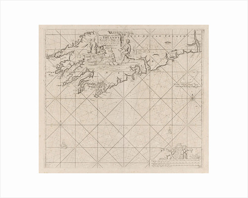 Map of part of the south coast of Ireland by Johannes van Keulen I