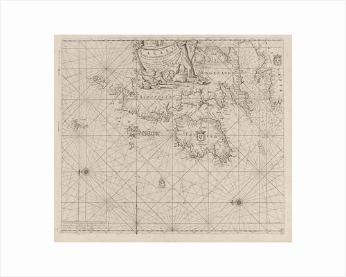 Sea chart of the coast of Ireland, Scotland, England and France by Johannes van Keulen I