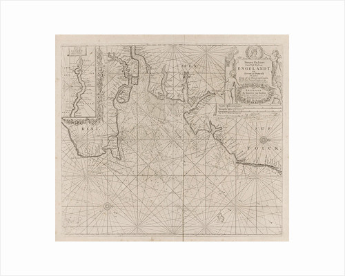 Sea chart of part of the east coast of England at the mouth of the Thames by Johannes van Keulen I