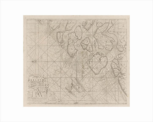 Sea chart of the Zeeland Islands and part of the North Sea by Johannes van Keulen I