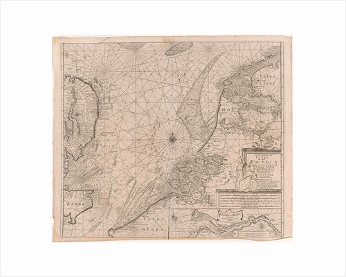 Sea chart of the southern part of the North Sea and part of the east coast of England, Gerard van Keulen by Anonymous