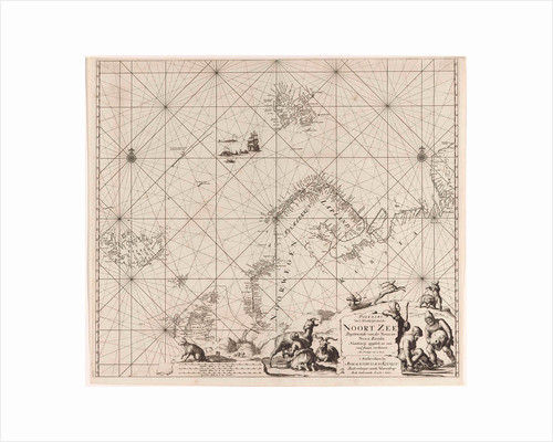 Sea chart of Northern part of Atlantic and Arctic Ocean, North Sea and Baltic Sea by Anonymous