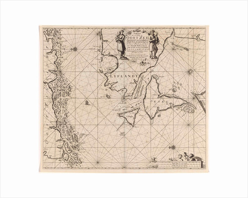 Sea chart of the mouth of the Gulf of Finland in the Baltic Sea by Anonymous