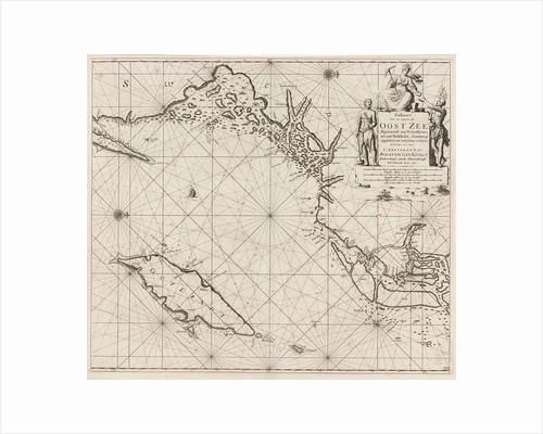 Sea chart of the northwestern part of the Baltic Sea by the Swedish coast by unknown