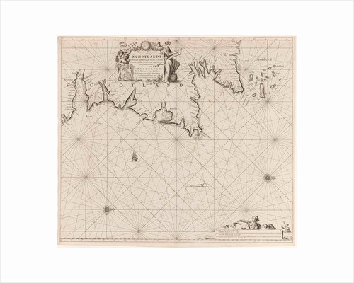 Sea chart of part of north east coast of Scotland and the Orkney Islands by Anonymous