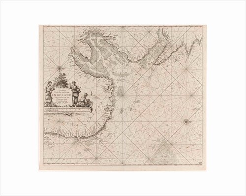Sea chart of the east coast of England, with the mouth of the Humber by Anonymous