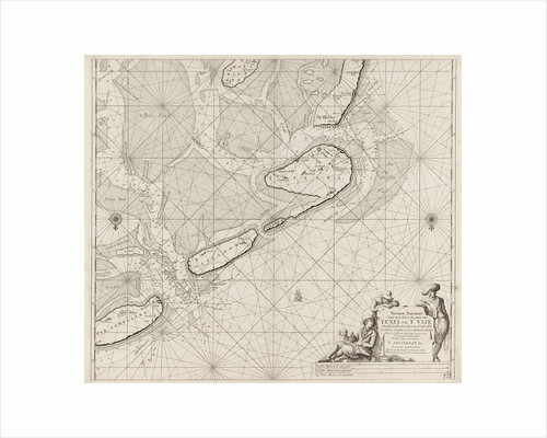 Sea chart of the Wadden Sea from Den Helder to Terschelling by Anonymous