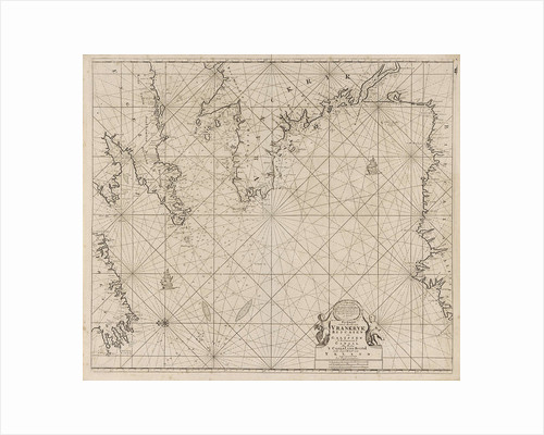 Sea chart of part of the coast of Ireland, England by France and Spain