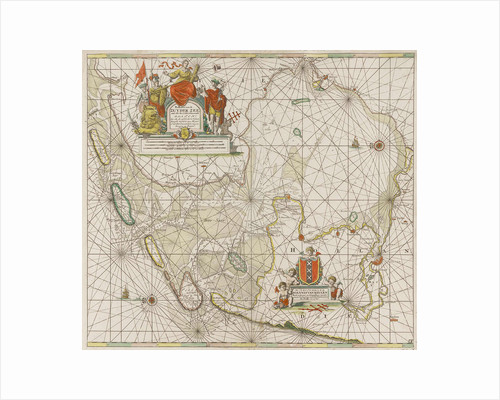 Sea chart of the Zuiderzee and the Wadden Sea by unknown