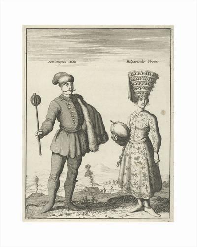 Hungarian man and Bulgarian woman in costume by Jan Luyken