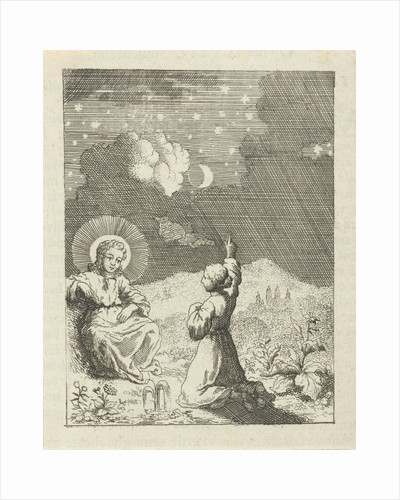 Christ and the personified soul contemplate the starry sky by Pieter Arentsz II
