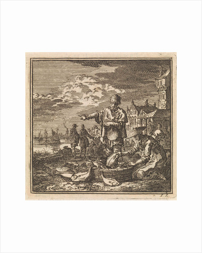 Fisher and his wife and a tub full of fish by Arentsz Pieter Cornelis van der Sys II