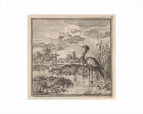 Heron in a pond by Pieter Arentsz & Cornelis van der Sys II