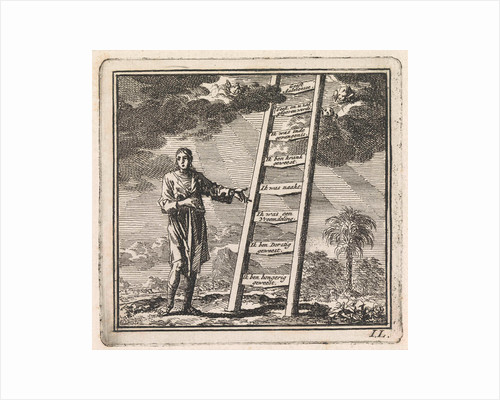 Man points to a ladder reaching to heaven by Pieter Arentsz & Cornelis van der Sys II