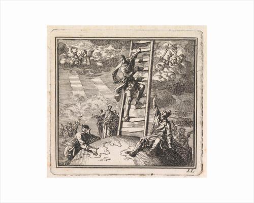 Man climbs on a ladder to heaven by Pieter Arentsz & Cornelis van der Sys II