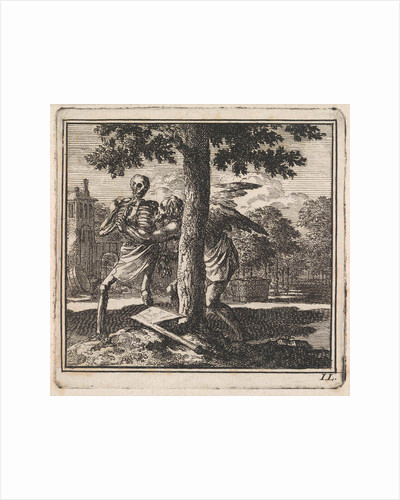 Father Time keeps death from chopping down a tree by Pieter Arentsz & Cornelis van der Sys II