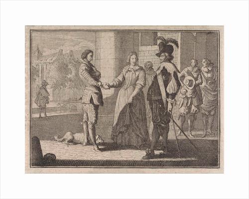 Woman introduces a boy to her husband by Frantz Martin Hertzen