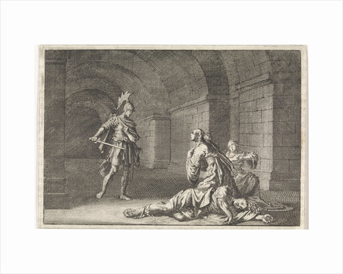 Caesonia and her daughter slain by Lupus by Pieter Mortier