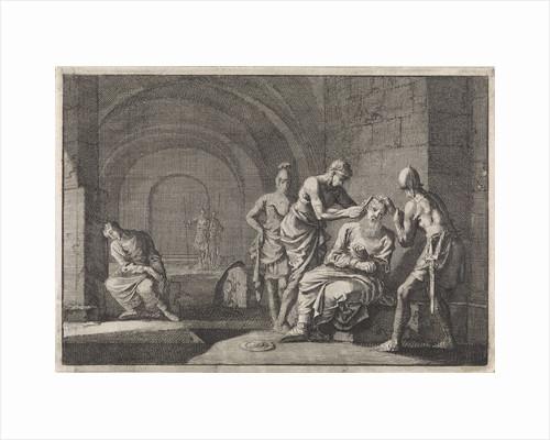Hyrkanus' ears cut off in jail by Pieter Mortier