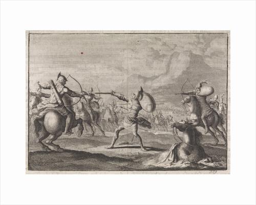 Demetrius Seleucus defends himself against shooting horsemen by Pieter Mortier