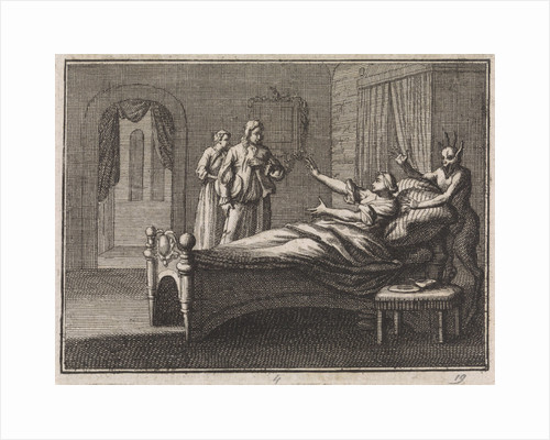 Sick woman receives her lover by Christoph Weigel