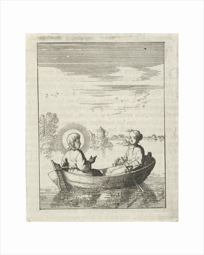 Christ with the soul personified in a rowboat by Pieter Arentsz II