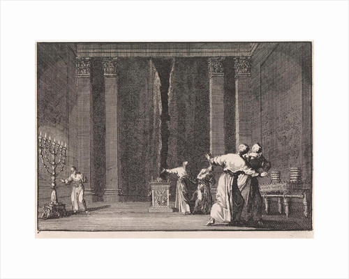 Rupture of the veil in the temple of Jerusalem by Pieter Mortier