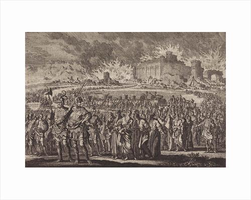 Destruction of Jerusalem by the Babylonian army by Jan Luyken