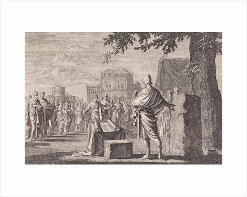 Joshua sets up a memorial by Pieter Mortier