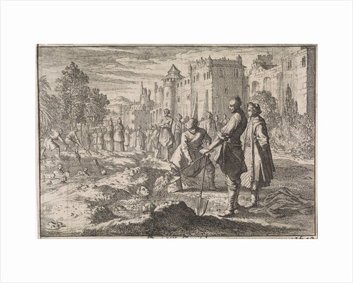 Safi, the Shah of Persia, buries forty of his harem women living in the palace garden as punishment for plotting against his life by Johann David Zunnern